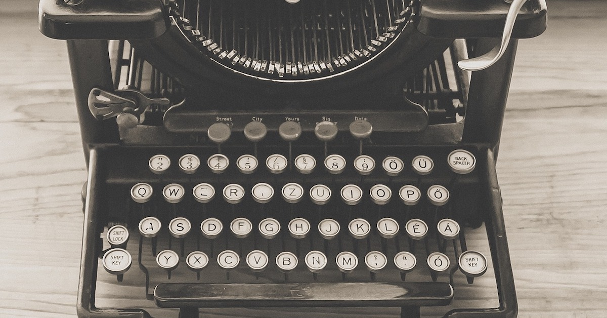 Typewriter; quick, write down the good notes before you forget it happened