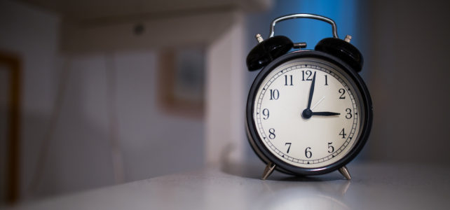 Alarm clock for kinesiology sleep study