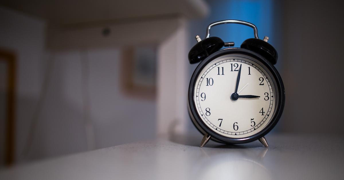 Alarm clock for kinesiology sleep study