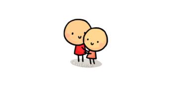 Cartoon hug