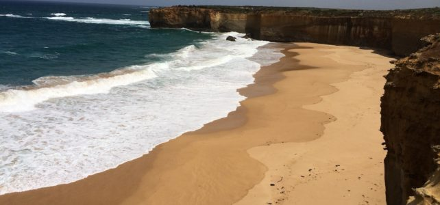 Beach and cliffs along Great Ocean Road, Victoria