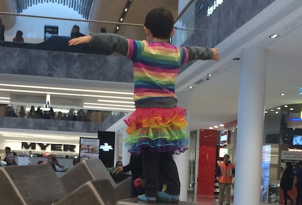 He loves rainbow colours, and why shouldn't he?